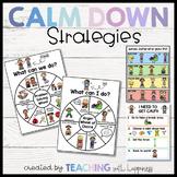 Calm Down Strategies - Problem Solving Wheel & Anger Wheel of Choice