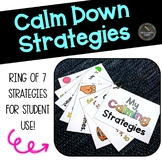 Calm Down Strategies Ring