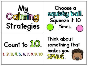 Calm Down Strategies Ring