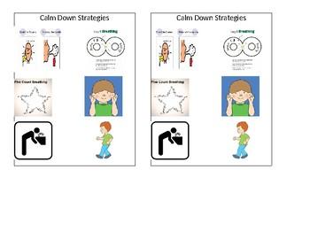 Calm Down Strategies Visual