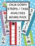 Calm Down Strips // Task Analysis Visual Board Pack