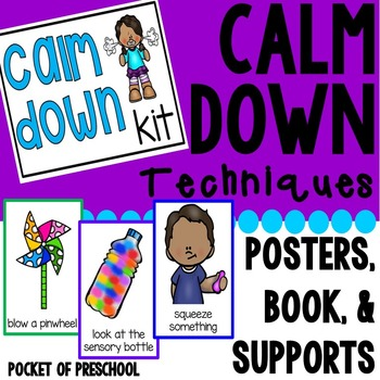 Calm Down Techniques - Books, Posters, and Supports
