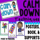Calm Down Techniques - Calm Down Corner, Books, Posters, a