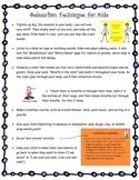 Calm Down Corner Tricks and Calm Down Information Sheet