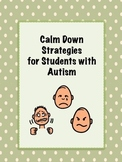 Calm Down Visual Supports Autism