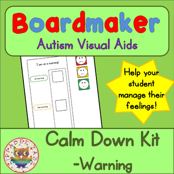 Calm Down Warning Chart - Boardmaker Visual Aids for Autism