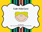 Calm Kids Card #3: Peace Place