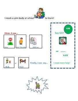 Calm Body/Ready Mind: using power cards +social story