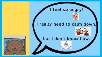 Calm down when angry - goldilocks and 3 bears - wellbeing, social skills