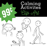 Calming Activities Clipart (B/W PNG JPG Images) - Calm Down Clipart