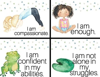 calming affirmation cards kids  animals yogasimply