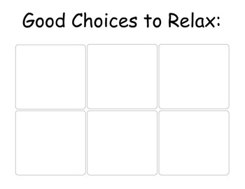 Calming Choices to Relax or Deescalate