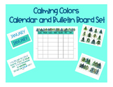 Calming Colors Calendar and Bulletin Board Set