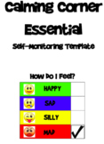 Calming Corner Self-Monitoring Checklist