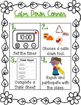 Calming Corner Sign