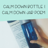 Calming Down Bottle | Calming Down Jar Poem