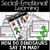 Calming Down - SEL - How Do Dinosaurs Say I'm Mad? Book Companion (Character Ed)