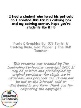 Calming Poster - Cat PAWS