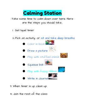 Calming Station Option Poster