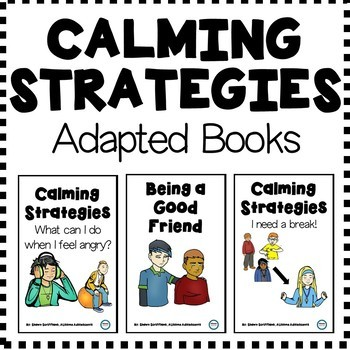 Calming Strategies Adapted Books FREEBIE (special education/autism)