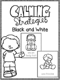 Calming Strategies Black and White