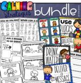 Calming Strategies Calm Corner Coping Skills Posters Mini Book Activities BUNDLE