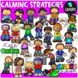 Calming Strategies Clip Art Bundle {Educlips Clipart}
