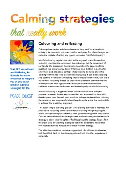 Calming Strategies Colour-in and Reflect