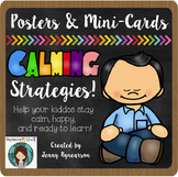 Calming Strategies POSTERS! Blackboard Background!