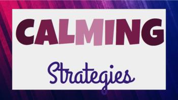 Calming Strategies Poster Set- EDITABLE