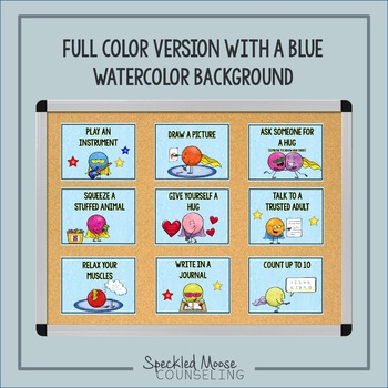 Calming Strategies Posters for Elementary School Counseling Decor