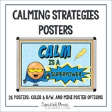 Calming Strategies Posters for School Counseling Decor