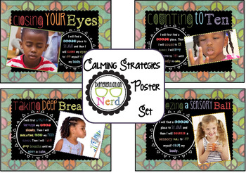 """Calming Strategies Posters with """"Peace Place"""" Banner"""