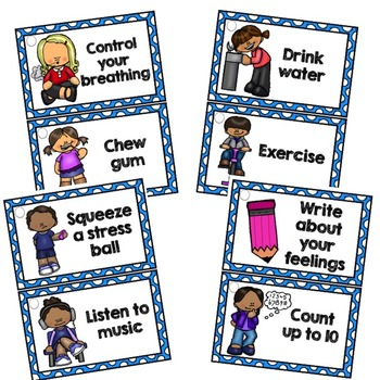 Calming Strategies Coping Skills Printable Cards By Counselor Keri