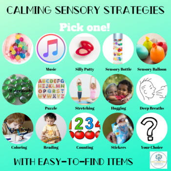 Calming Strategies Sensory Activities