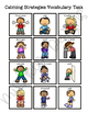 Calming Strategies Vocabulary Folder Game for Students with Autism
