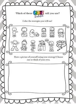 Calming Strategies Worksheet- An Activity to Promote Healthy Coping Skills