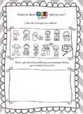 Calming Strategies Worksheet- An Activity to Promote Healt