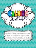 Calming Strategies for Classroom Management - Color, B&W,