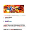 Calming Strategies & progress monitoring sheet: Power Rangers