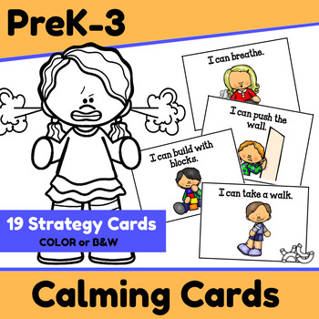 Calming Strategy Cards for Behavior Management & Self-Regulation