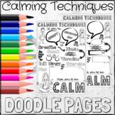Calming Techniques Brain Breaks Coloring DOODLE PAGES!