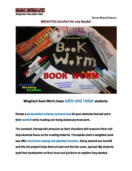 Calming Weighted Shoulder Book Worm