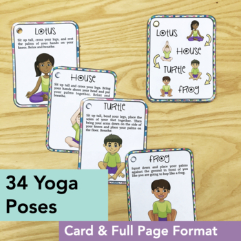 yoga cards for kids yoga sequences posters and card