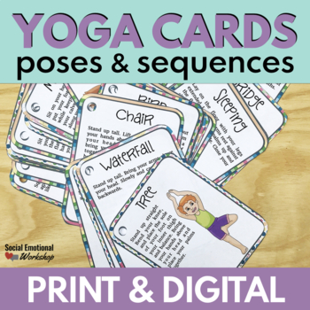 graphic relating to Printable Yoga Cards named Printable Yoga Playing cards: Yoga Pose Playing cards with Straightforward Sequences and Posters