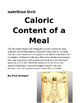 Caloric Content of a Meal