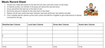 Calorie Workout Activities