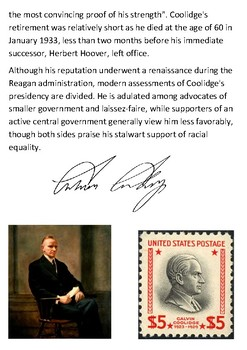 Calvin Coolidge Handout