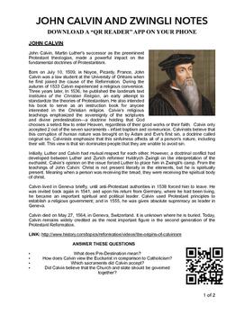 Calvin and Zwingli