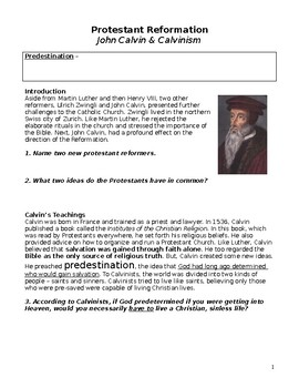 Protestant Reformation Brochure: Calvinism, Lutheranism, Zwinglism,  Anglican Church Brochure